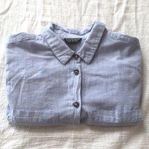 TopShop Women's Button Down Shirt 100% Cotton